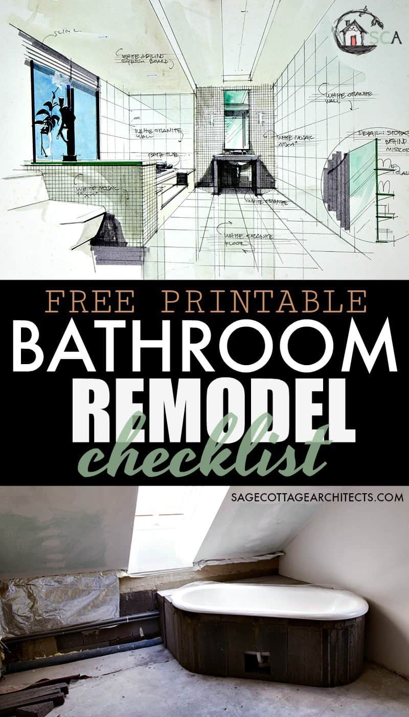 Bathroom remodel checklist free printable download - Bathroom remodeling software free ...