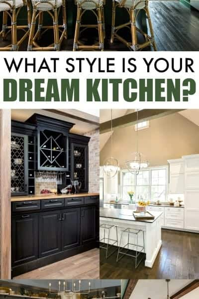 dream kitchen collage with a series of beautiful kitchen photos