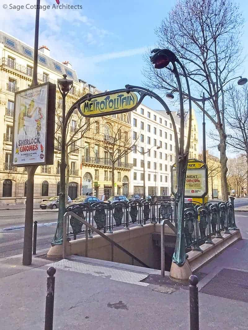 Paris metro subway entrance