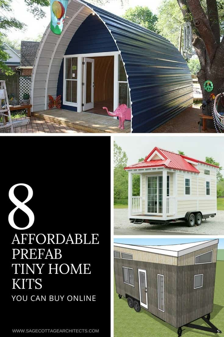 prefab tiny houses photo collage