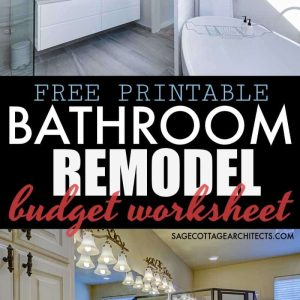 Average Cost of a Bathroom Remodel – Free Budgeting Printable