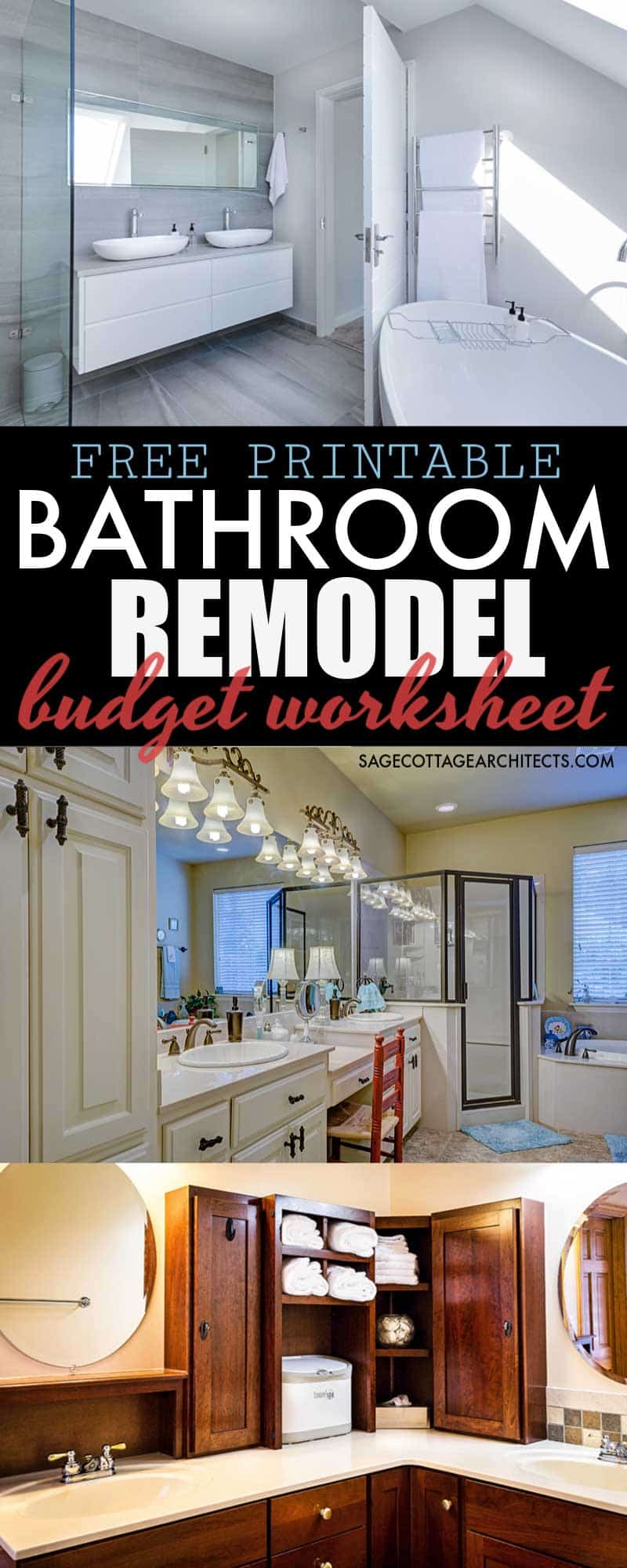 Average Cost of a Bathroom Remodel - Free Budgeting Printable 7