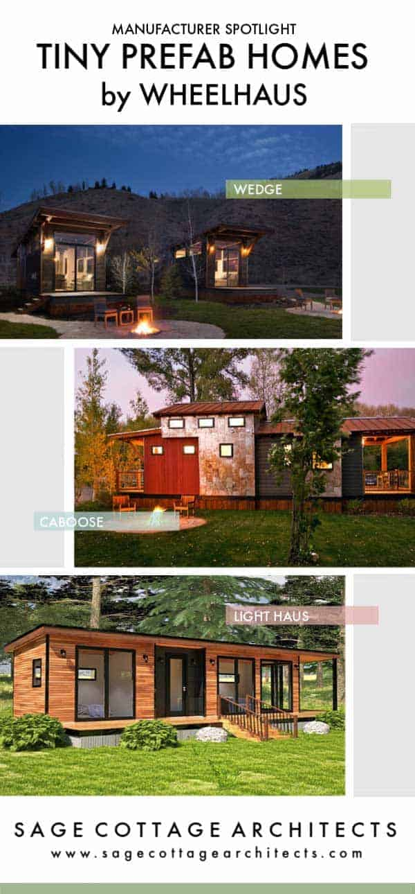 collage of WheelHaus tiny homes
