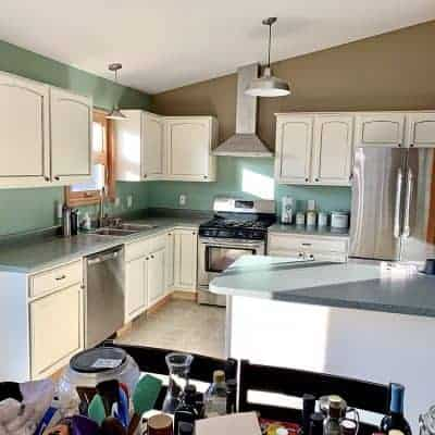 Kitchen Cabinet Makeover: From Orange to Amazing on a Budget