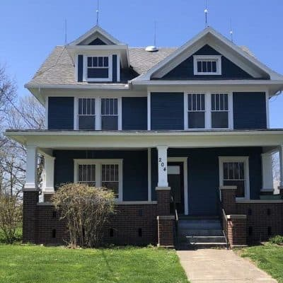 Old House For Sale: Beautiful Blue & White American Foursquare